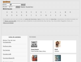 musica-videos-fotos.quedeletras.com screenshot
