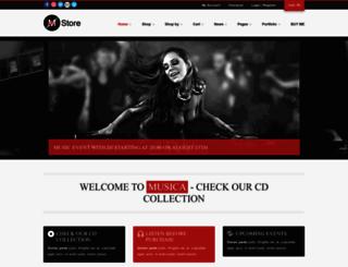 musica.premiumcoding.com screenshot