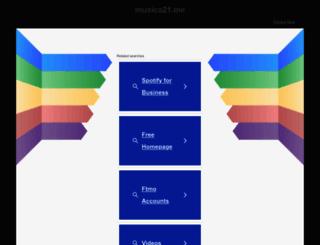 musica21.net screenshot