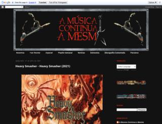musicacontinuaamesma.blogspot.com.br screenshot