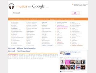musicaengoogle.com screenshot