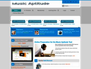 musicaptitude.co.uk screenshot
