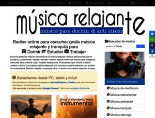 musicarelajante.es screenshot