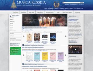 musicarussica.com screenshot