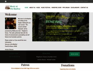 musicatthebasilica.org.au screenshot