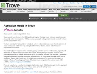 musicaustralia.org screenshot