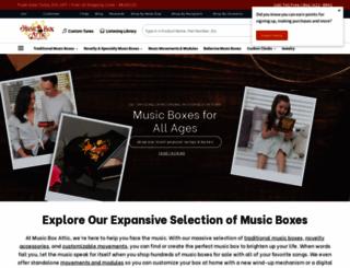 musicboxattic.com screenshot