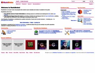 musicbrainz.org screenshot