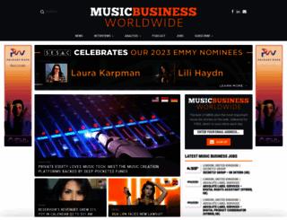 musicbusinessworldwide.com screenshot