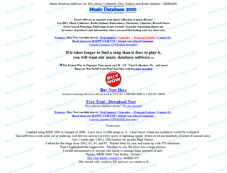 musicdatabasesoftware.com screenshot
