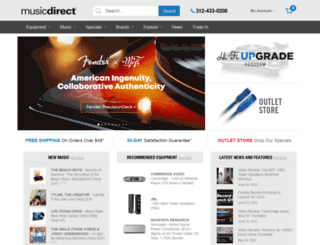 musicdirect.com screenshot