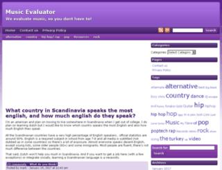 musicevaluator.com screenshot