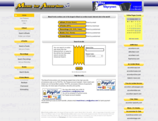 musicforaccordion.com screenshot