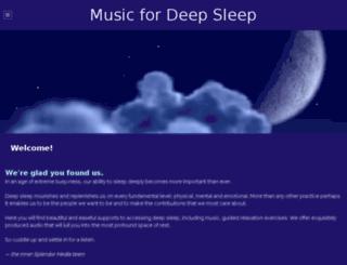 musicfordeepsleep.com screenshot