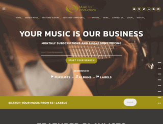 musicforproductions.com screenshot