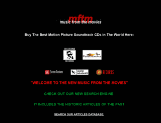 musicfromthemovies.com screenshot