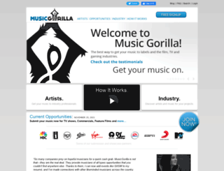 musicgorilla.com screenshot