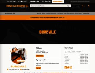 musicgoroundburnsville.com screenshot
