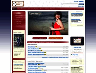 musicianspage.com screenshot