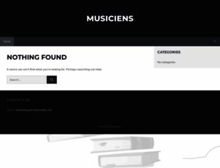 musiciens.biz screenshot