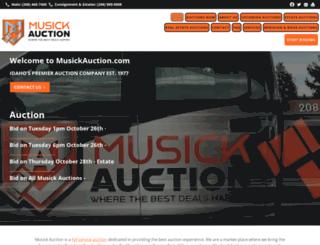 musickauction.com screenshot