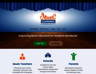 musiclearningcommunity.com screenshot
