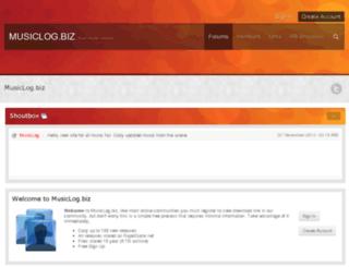 musiclog.biz screenshot