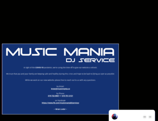 musicmania.ca screenshot