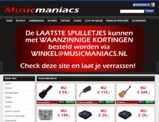 musicmaniacs.nl screenshot