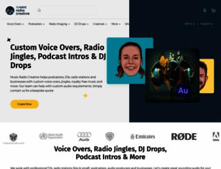 musicradiocreative.com screenshot