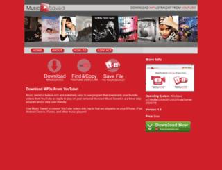 musicsaved.com screenshot