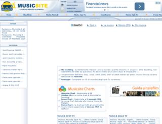 musicsite.it screenshot