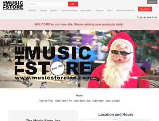 musicstoreinc.com screenshot