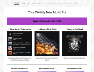 musictrajectory.com screenshot