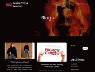 musictriviamaster.com screenshot