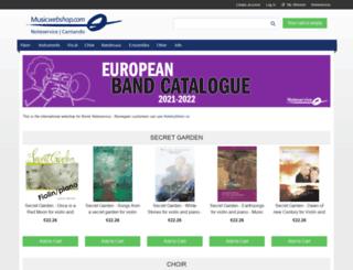 musicwebshop.com screenshot