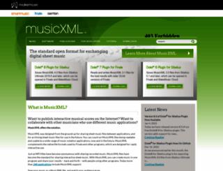 musicxml.com screenshot