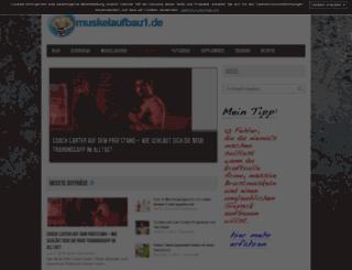 muskelaufbau1.de screenshot