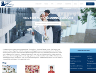 muskokaweddingplanner.com screenshot