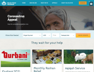 muslim-relief.org screenshot