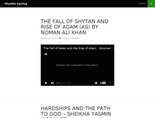muslimspring.com screenshot