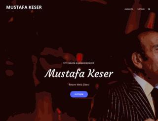 mustafakeser.com screenshot