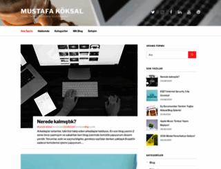 mustafakoksal.com screenshot