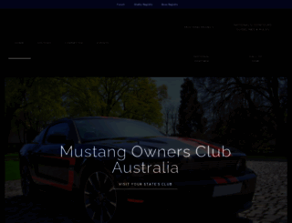 mustang.org.au screenshot