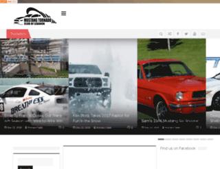 mustangtornado.com screenshot