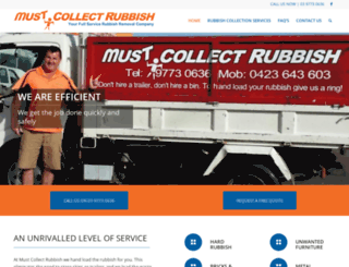 mustcollectrubbish.com.au screenshot