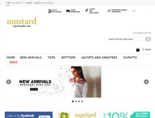 mustdemo.mustardfashion.com screenshot
