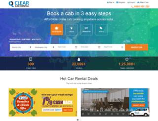 mustseeindia.clearcarrental.com screenshot