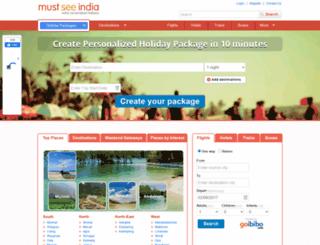mustseeindia.com screenshot