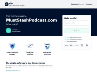 muststashpodcast.com screenshot